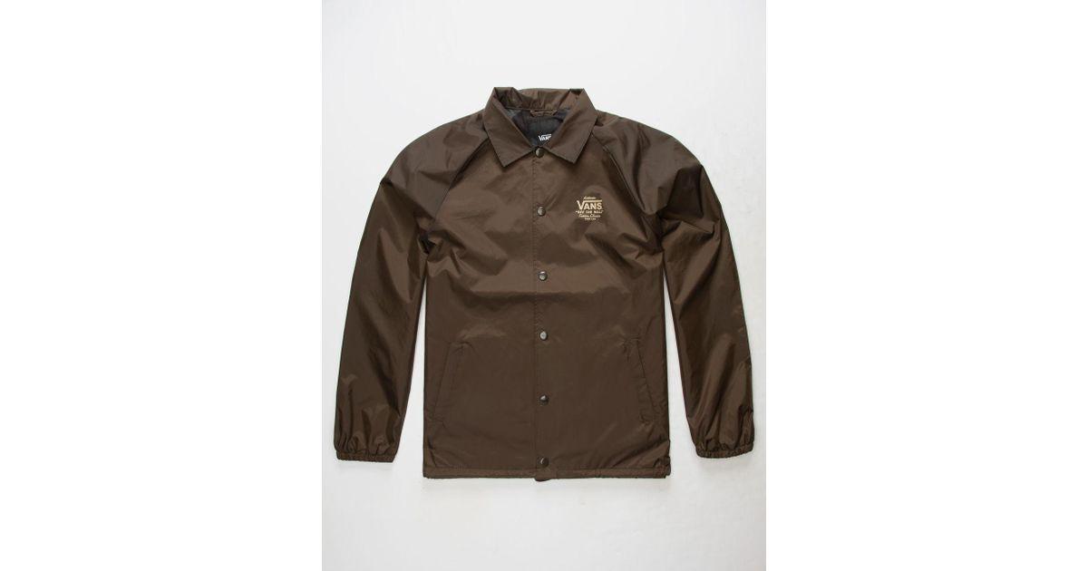 Lyst Vans Torrey Mens Coach Jacket In Brown For Men