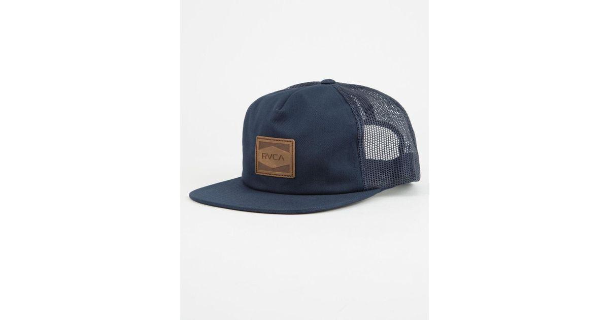 Lyst - Rvca Washburn Mens Trucker Hat in Blue for Men a2d034e3e52
