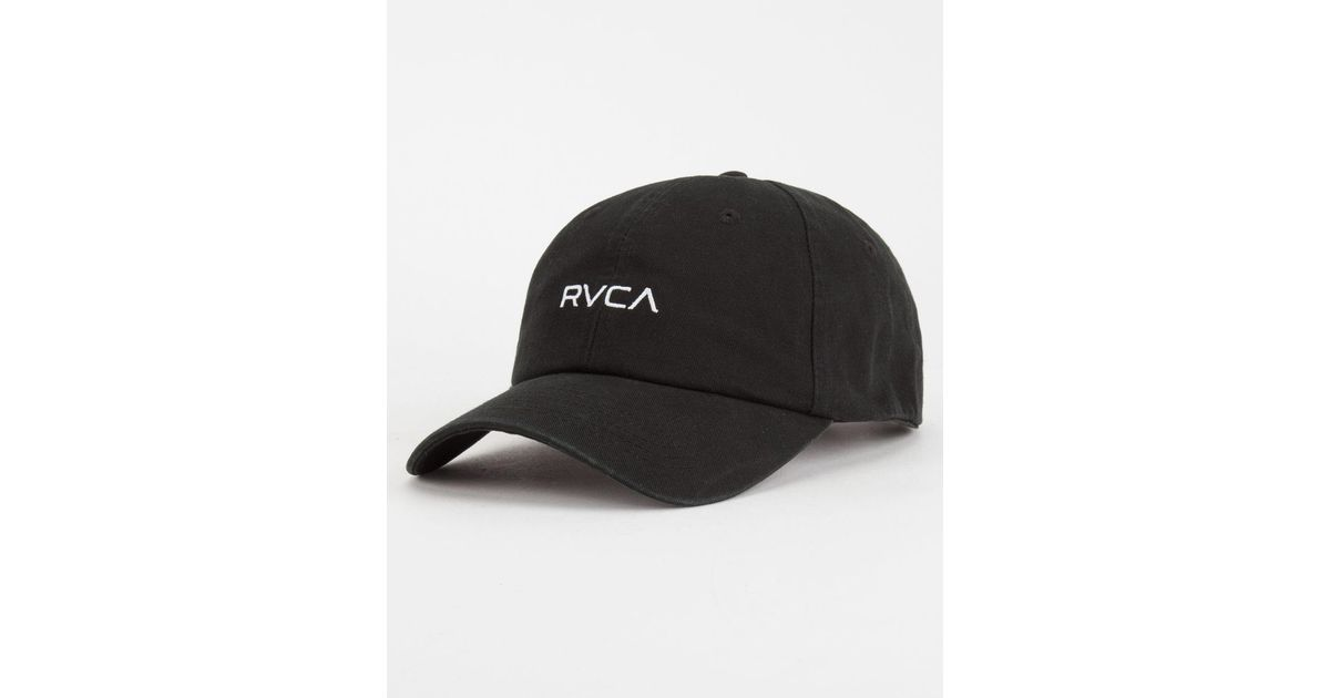 Lyst - RVCA Larry Mens Dad Hat in Black for Men 6e3881c7e1e