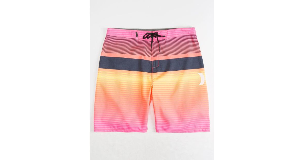 92f2837580 Lyst - Hurley Line Up Hyper Pink & White Mens Boardshorts in Pink for Men