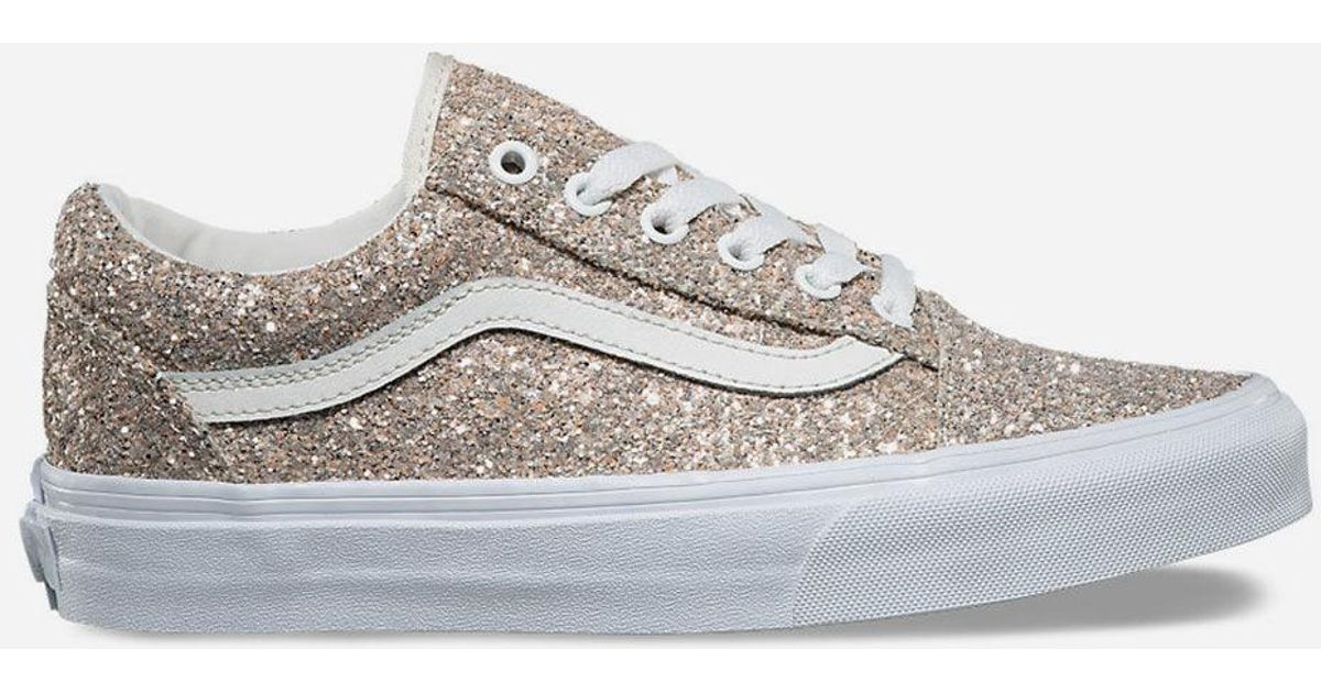 a9a6d3cea2 Lyst - Vans Chunky Glitter Old Skool Womens Shoes in Metallic
