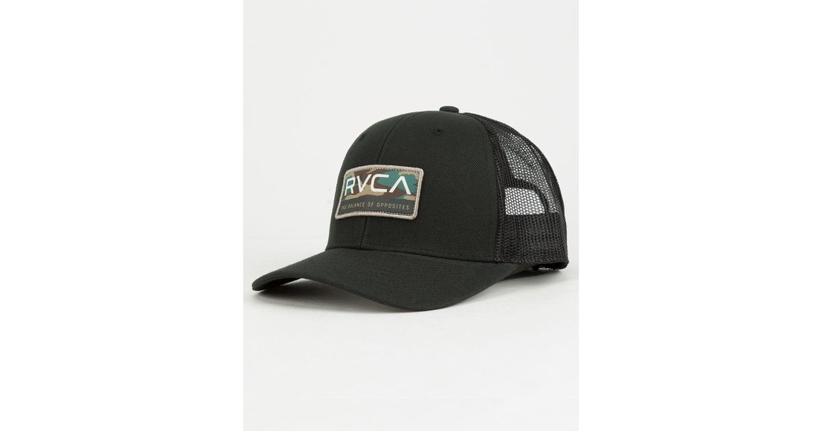 outlet store 567d7 9634b store lyst rvca reno mens trucker hat in black for men 0e209 44583