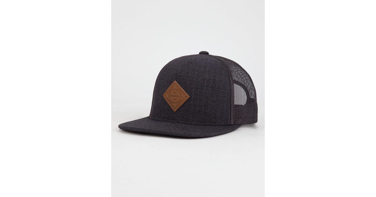 4d9778511ed Lyst - RVCA Finley Mens Trucker Hat in Blue for Men