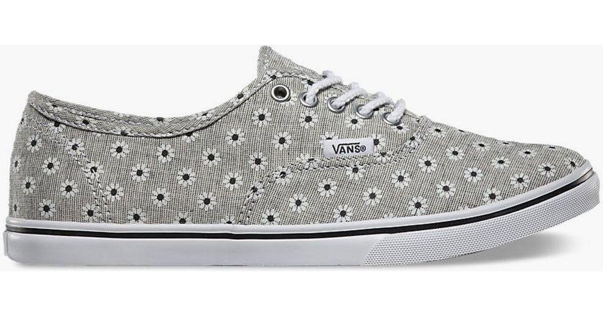 c9171025e1 Lyst - Vans Chambray Floral Authentic Lo Pro Womens Shoes