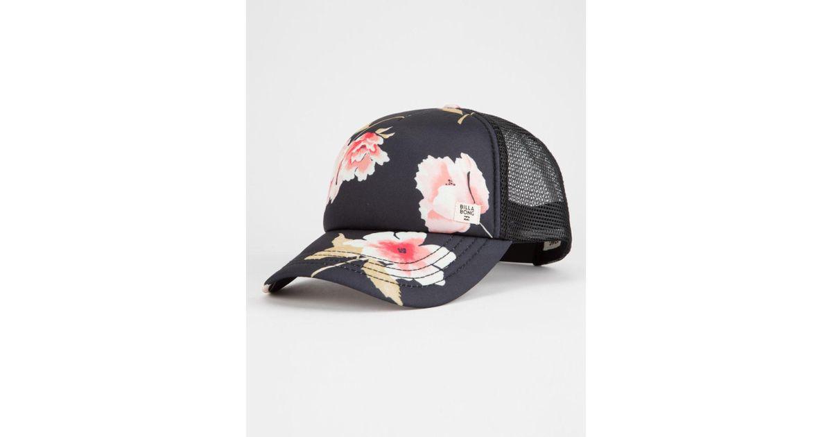 35009f44a1785 Billabong Heritage Mashup Sugar Pine Womens Trucker Hat in Black - Lyst