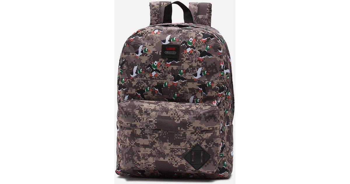 fbed87fd5805 Lyst - Vans X Nintendo Duck Hunt Old Skool Ii Backpack in Black