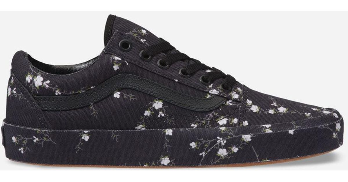 Lyst - Vans Old Skool Midnight Floral Womens Shoes in Black feea1eb68a