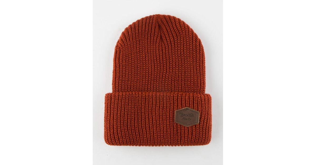 Lyst - Brixton Trig Beanie in Brown for Men 46d408a851d3