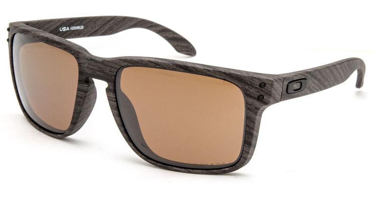 b3ecaf5f771 Lyst - Oakley Holbrook Xl Woodgrain   Prizm Tungsten Polarized Sunglasses  for Men