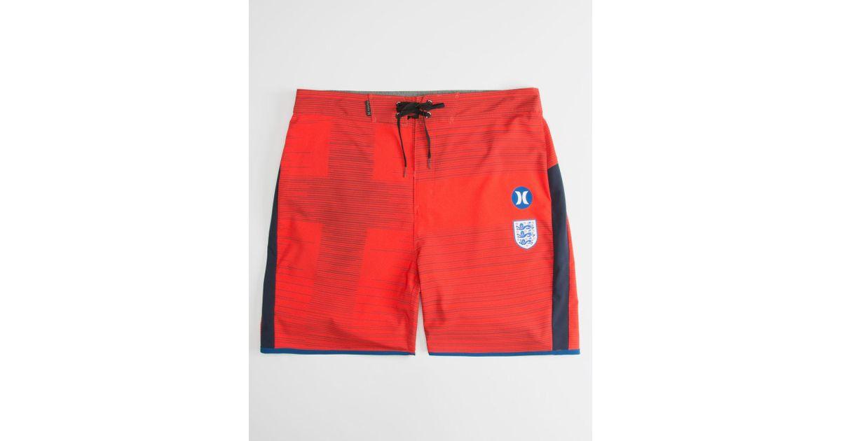 ba66656ae4 Hurley Phantom England National Team Mens Boardshorts in Red for Men - Lyst