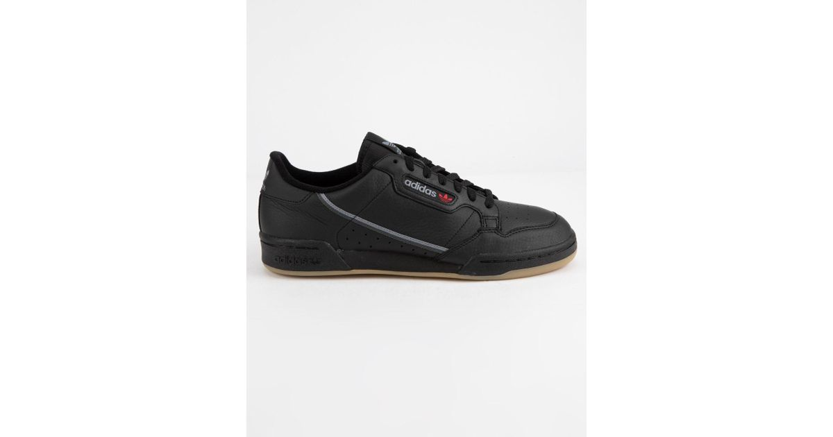 c07f7c74310 Lyst - adidas Continental 80 Core Black   Gum Shoes in Black for Men