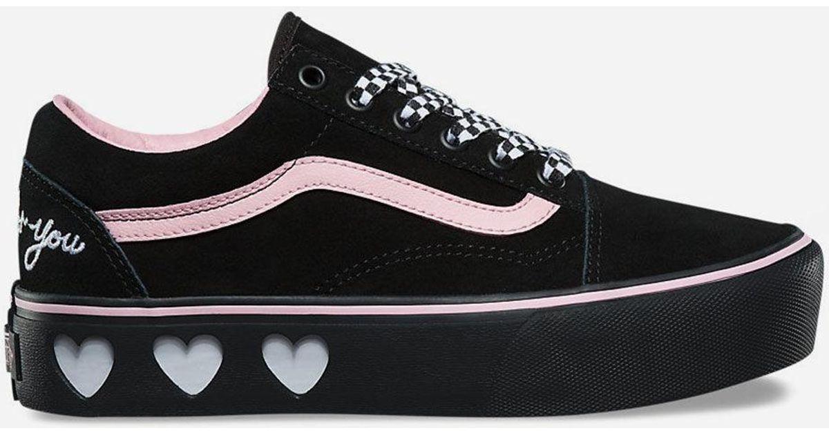 408cfe59e6 Lyst - Vans X Lazy Oaf Old Skool Platform Black Womens Shoes in Black