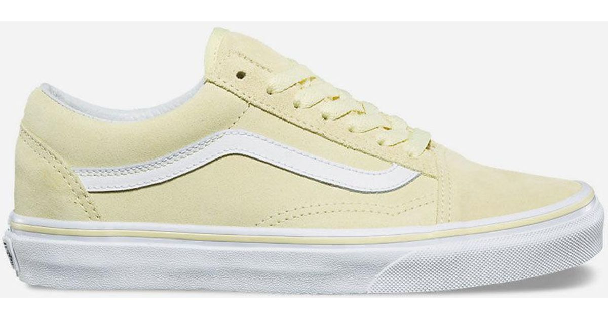 900ddad27c2 Lyst - Vans Old Skool Suede Tender Yellow   True White Womens Shoes in  Yellow - Save 32%