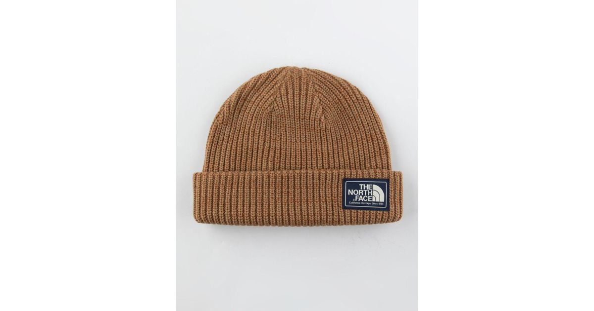 Lyst - The North Face Salty Dog Tan Mens Beanie in Brown for Men 7eca9c72498