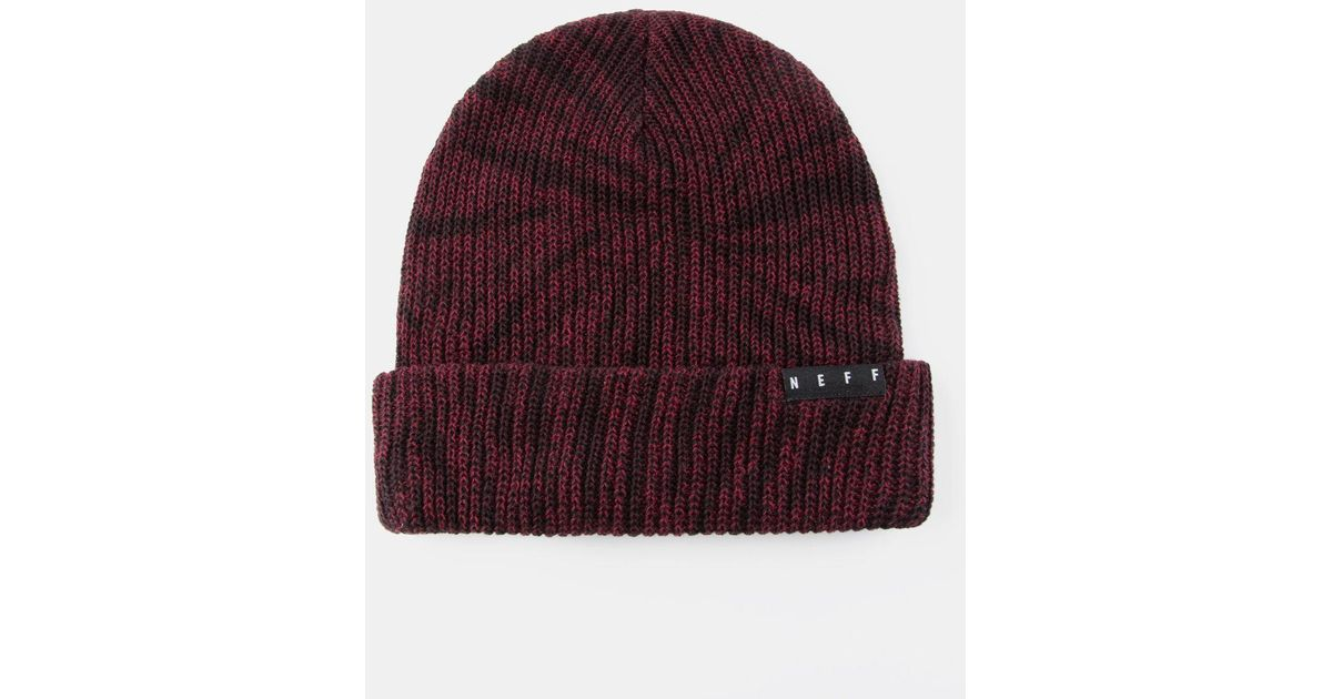 1e1d5a7cf22 Lyst - Neff Fold Washed Mens Beanie in Red for Men