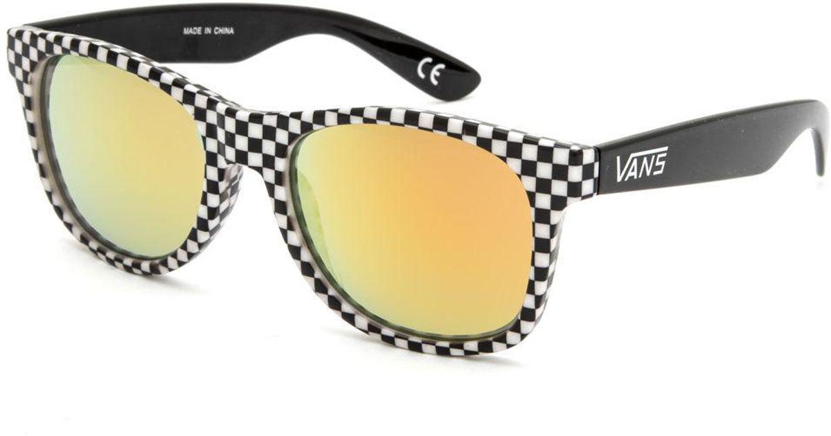 c56b74b7c38 Lyst - Vans Spicoli 4 Checkered Sunglasses for Men