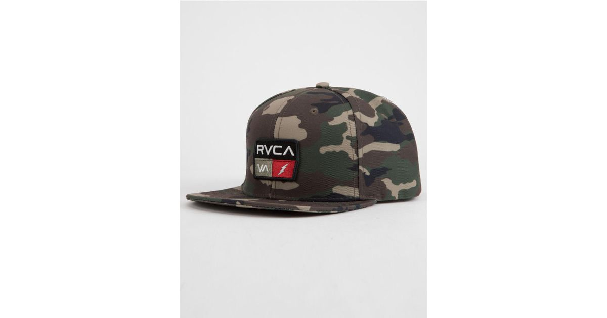 990f8be1ea153 ... trucker hat 15321 159c3 order lyst rvca 9volt camo mens snapback hat  for men 3edf0 f51d5 ...