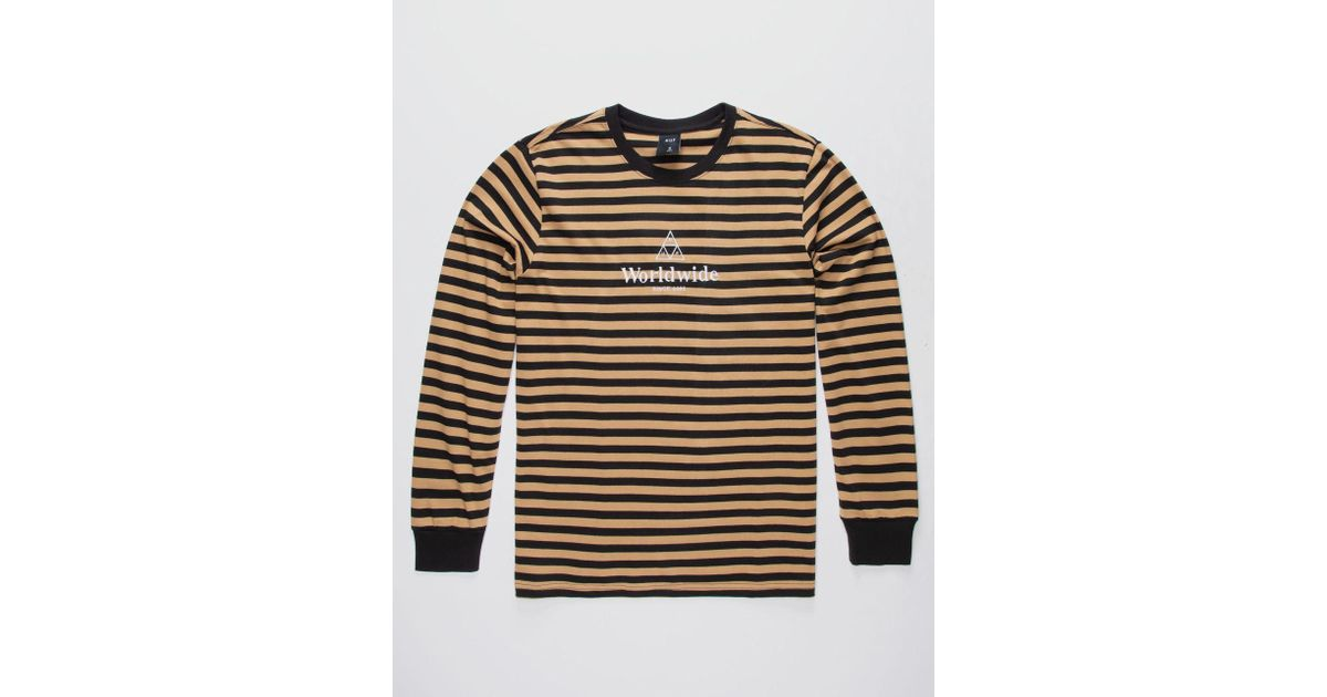 9a8641da3b Huf Bold Stripe Mens T-shirt in Black for Men - Lyst