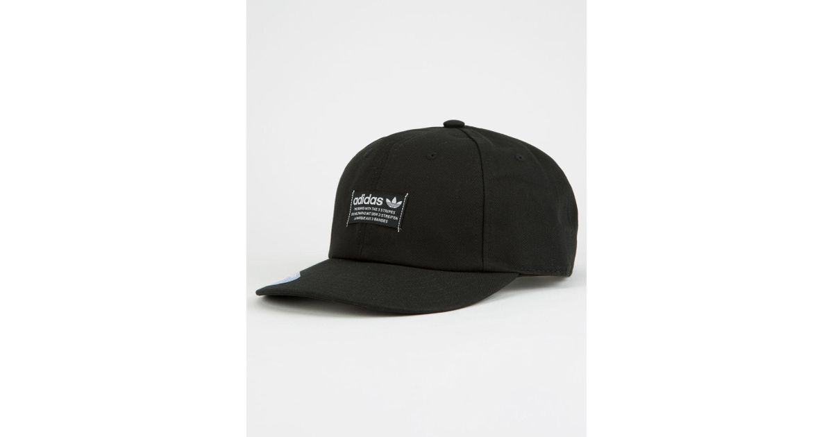 dd55e8e2940 Lyst - adidas Originals Relaxed Base Strapback Cap in Black for Men