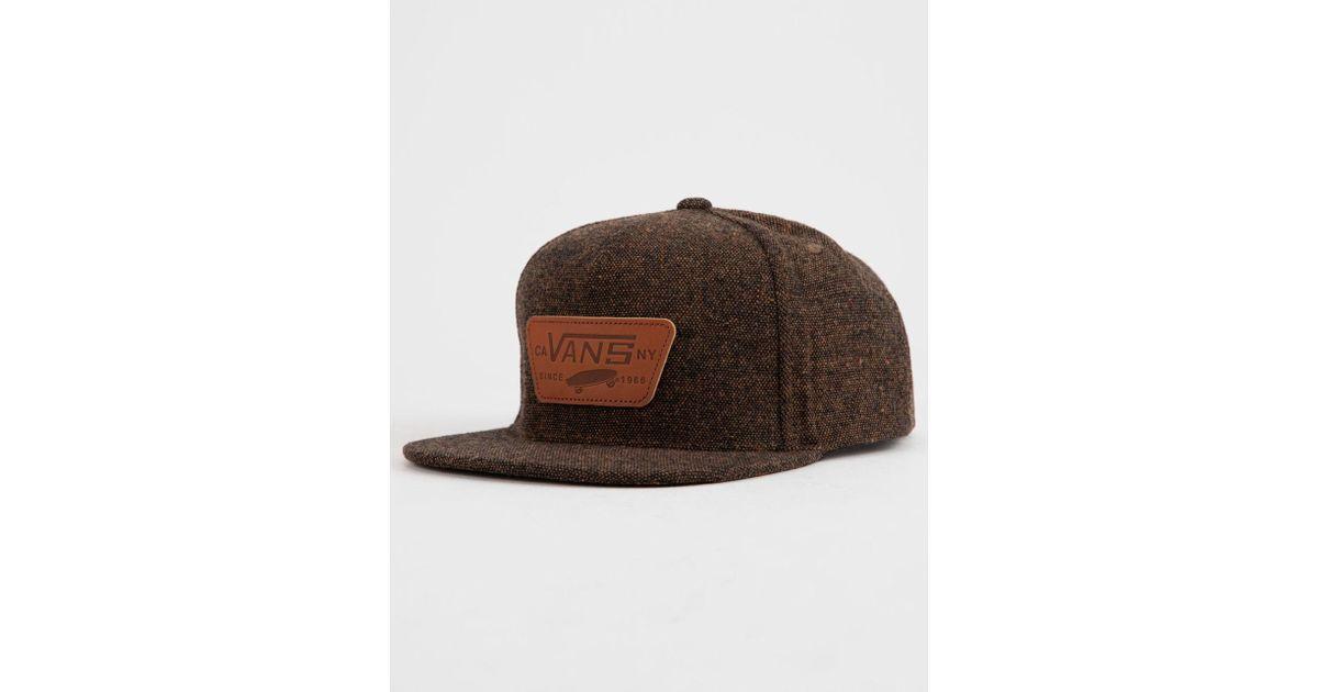 Lyst - Vans Full Patch Mens Snapback Hat in Brown for Men 73644428f