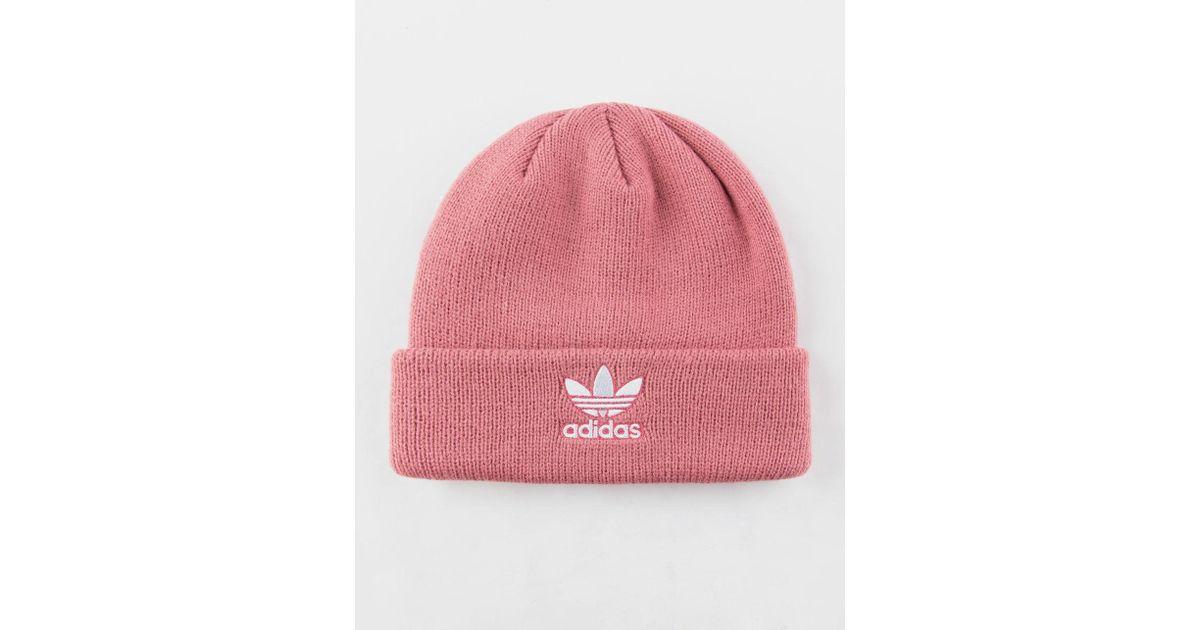 Lyst - adidas Originals Trefoil Pink Womens Beanie in Pink dcb6a6bb3a3