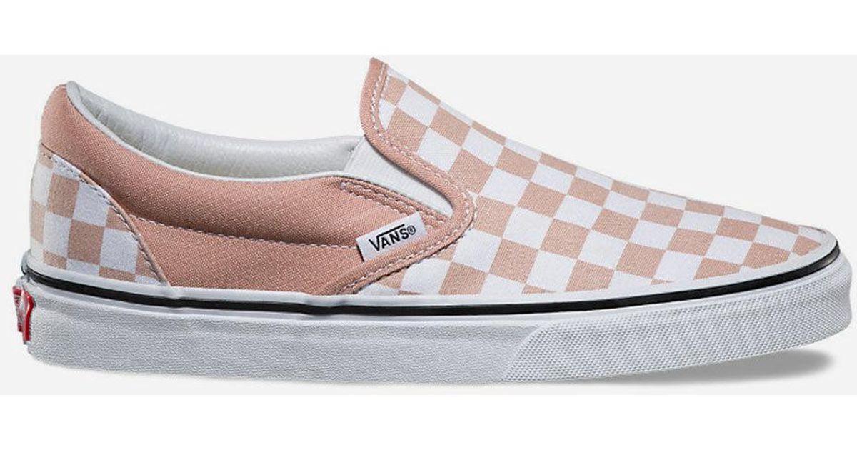 Lyst - Vans Checkerboard Slip-On Womens Shoes 64971db1c