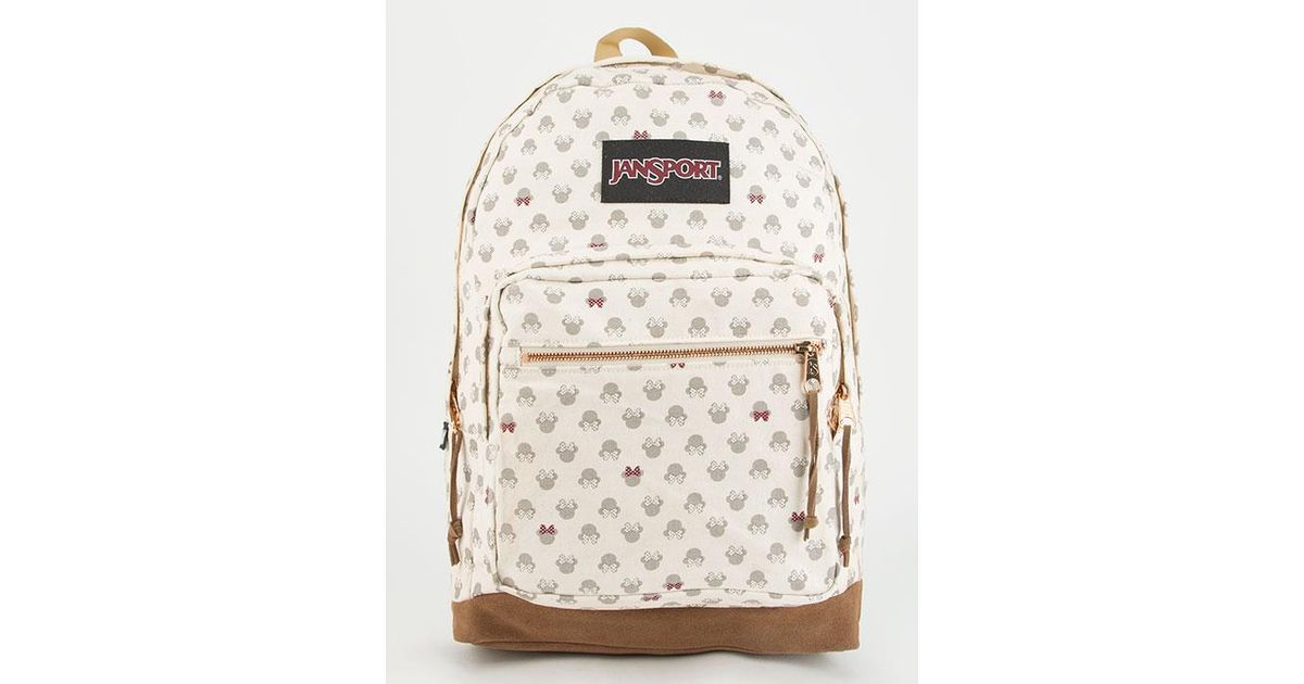 Lyst - Jansport X Disney Luxe Minnie Right Pack Backpack in Natural