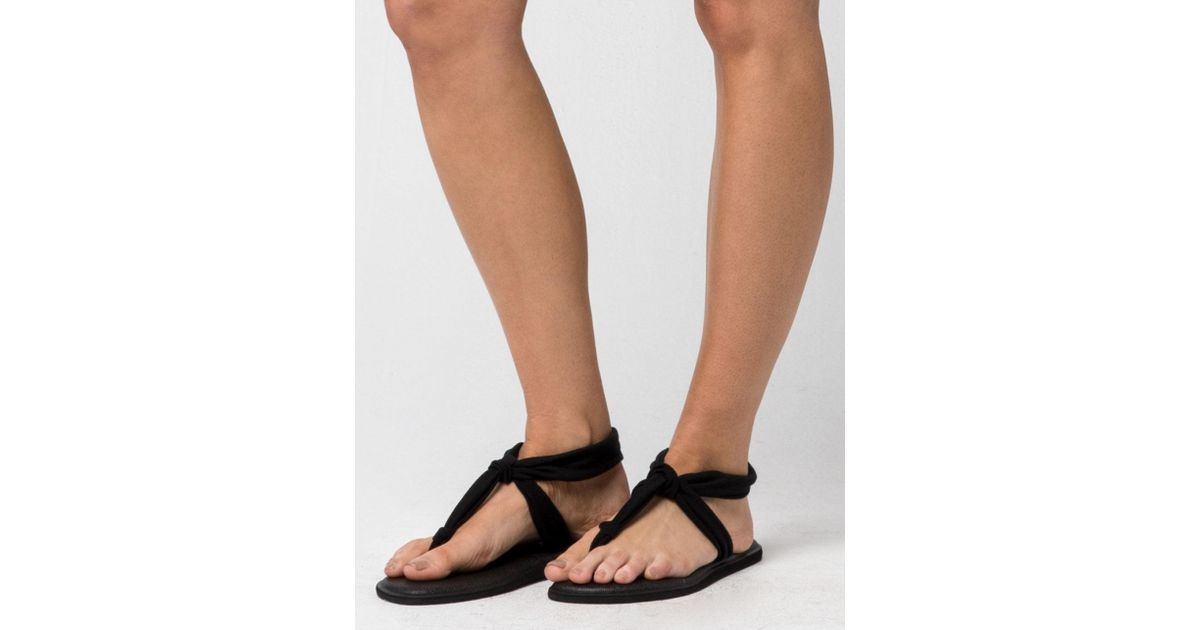 76a506e07 Lyst - Sanuk Yoga Sling Ella Womens Sandals in Black
