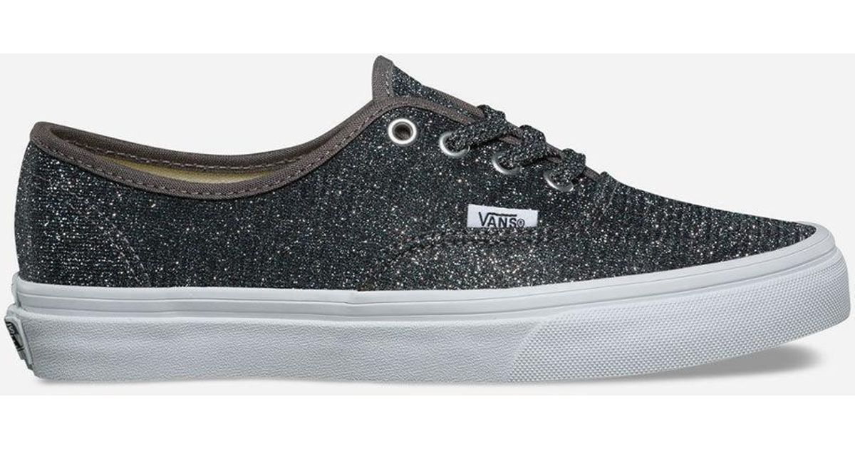 Lyst - Vans Lurex Glitter Authentic Black   True White Womens Shoes in Black fbac149ea7bf
