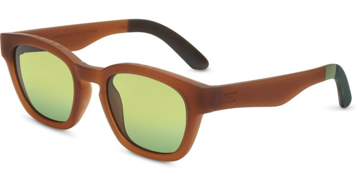b2d94f4bb38a TOMS : Traveler Bowery Matte Umber Sunglasses in Brown - Lyst