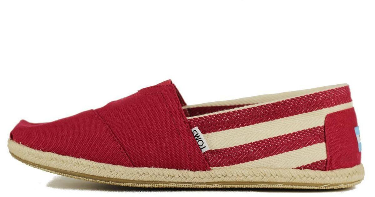 Lyst - Toms Classic Red Stripe University in Red for Men 5c2277e69