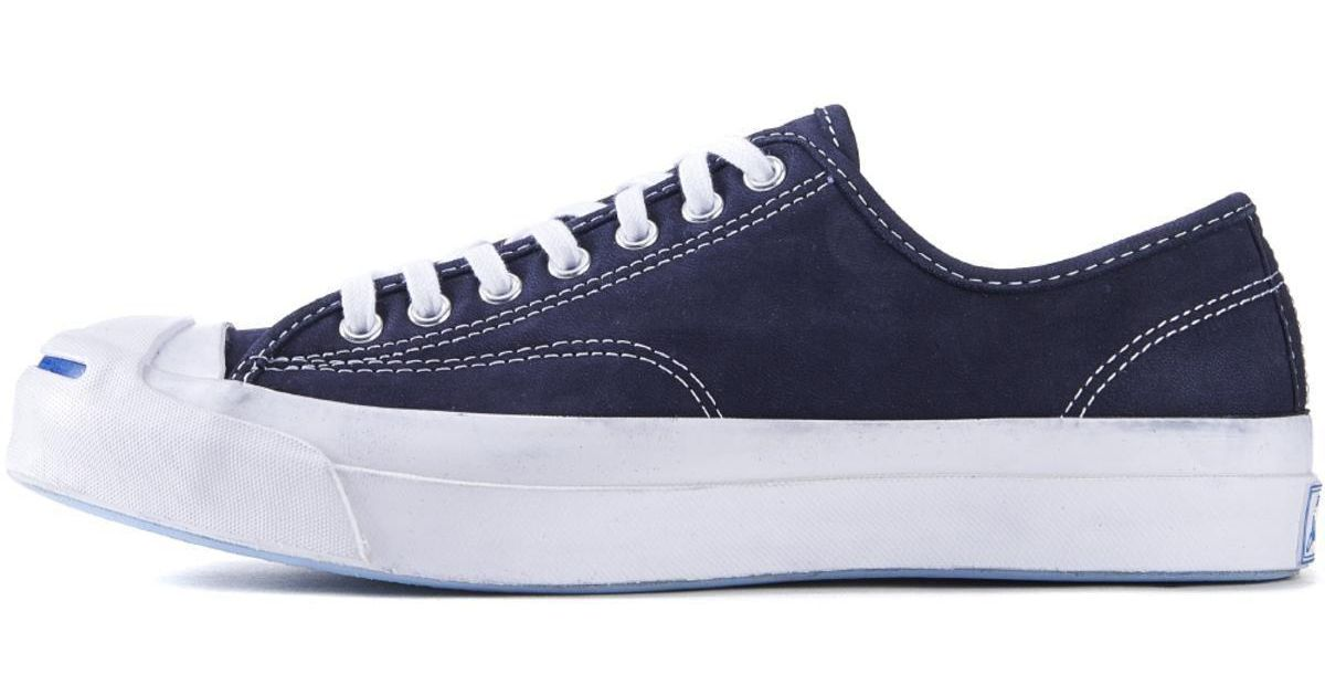 e3ff1d34ec60 Lyst - Converse Jack Purcell Signature Nubuck Inked Sneakers in Blue for Men