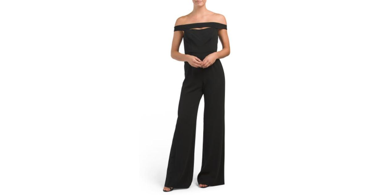 052f6f3fbd9 Lyst - Tj Maxx Off The Shoulder Jumpsuit in Black