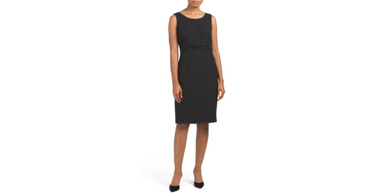 124dac4a Lyst - Tj Maxx Stretch Crepe Sheath Dress in Black