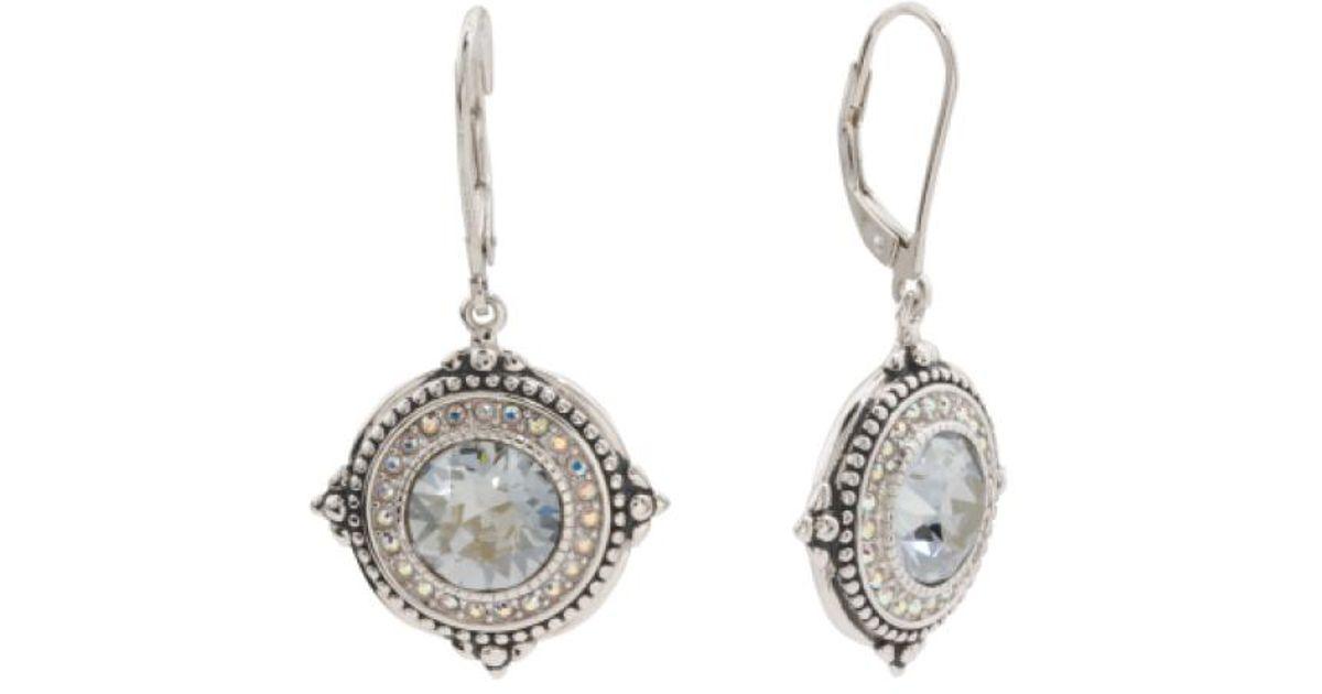 dd873888a Lyst - Tj Maxx Sterling Silver Swarovski Crystal Drop Earrings in Metallic