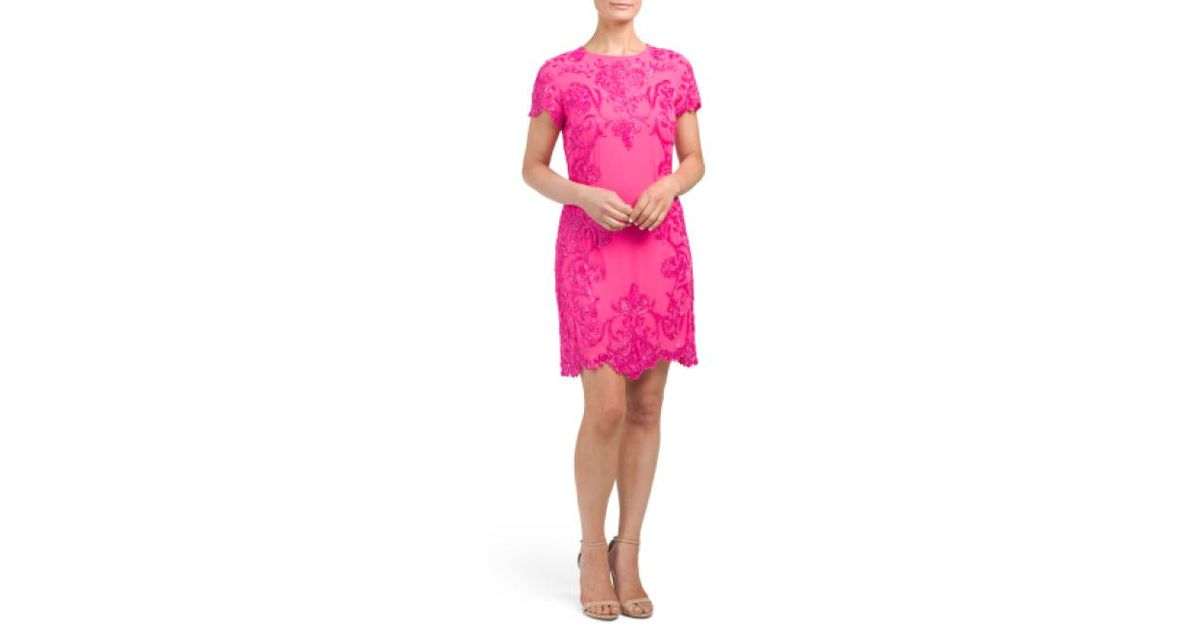 140358d5415e Lyst - Tj Maxx Hand Beaded Cocktail Dress in Pink