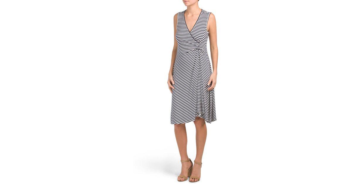 3eb5c0a777a9 Tj Maxx Striped Jersey Midi Dress - Lyst