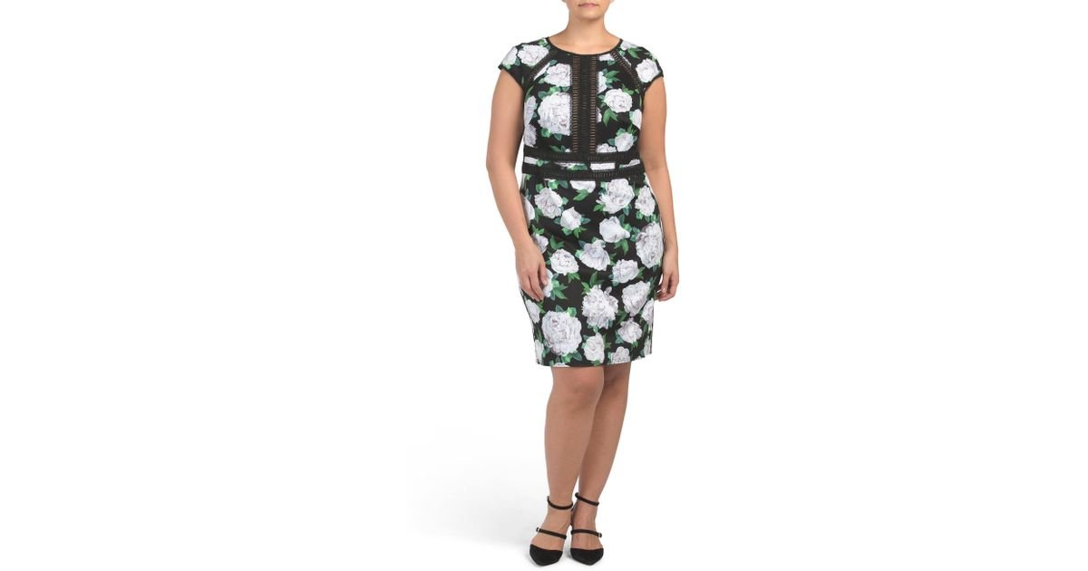 6675becd2d67 Tj Maxx Plus Floral Dress in Black - Lyst