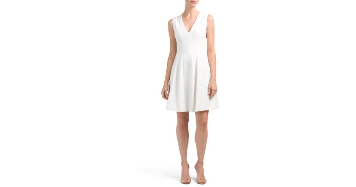 7ef15465959 Lyst - Tj Maxx Solid Crepe Dress in White