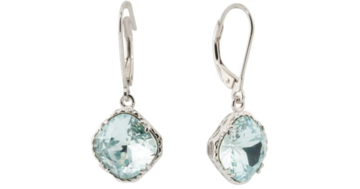 045785200 Lyst - Tj Maxx Sterling Silver Swarovski Crystal Leverback Earrings in  Metallic
