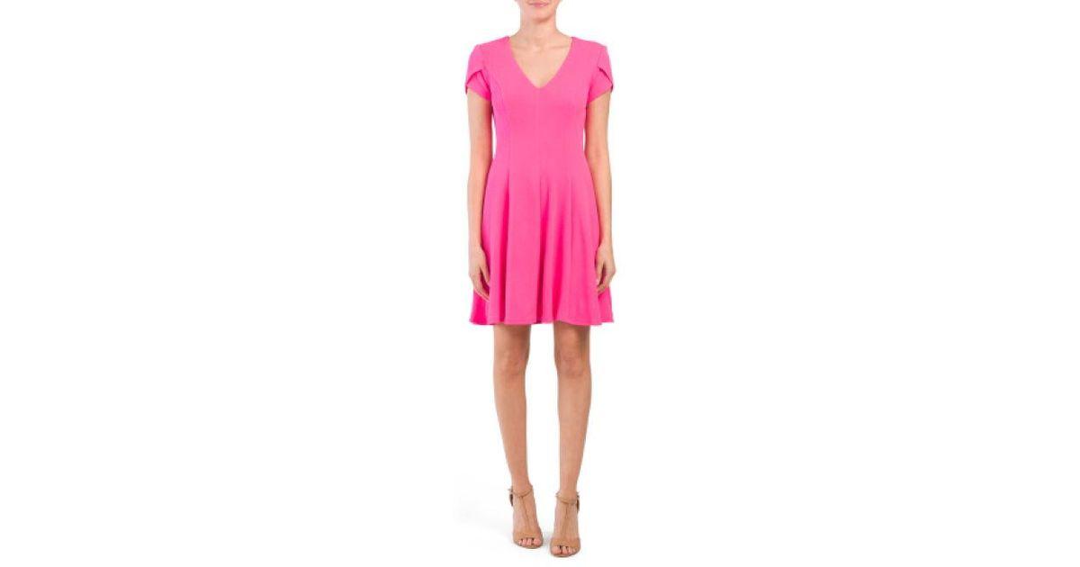 3de2176b180 Lyst - Tj Maxx Made In Usa Vanessa Honeycomb Knit Dress in Pink