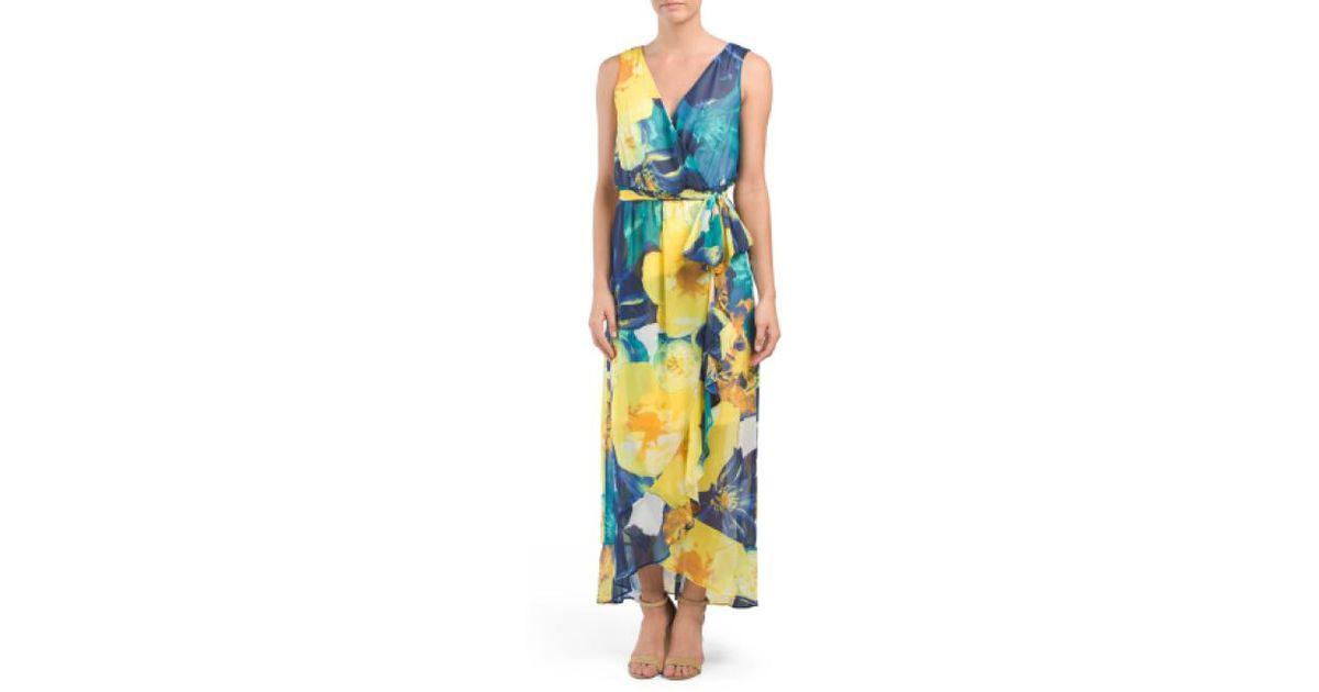 0f0212170ce6b Lyst - Tj Maxx Floral Wrap Maxi Dress