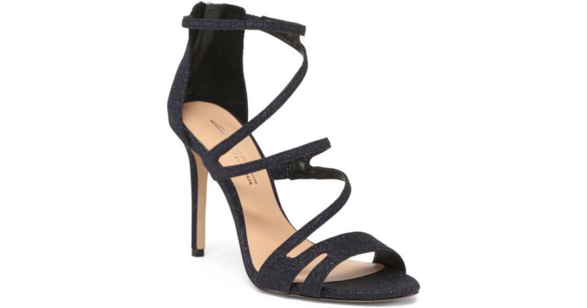 fb1461d99976b Lyst - Tj Maxx Strappy Heeled Dress Sandals in Black