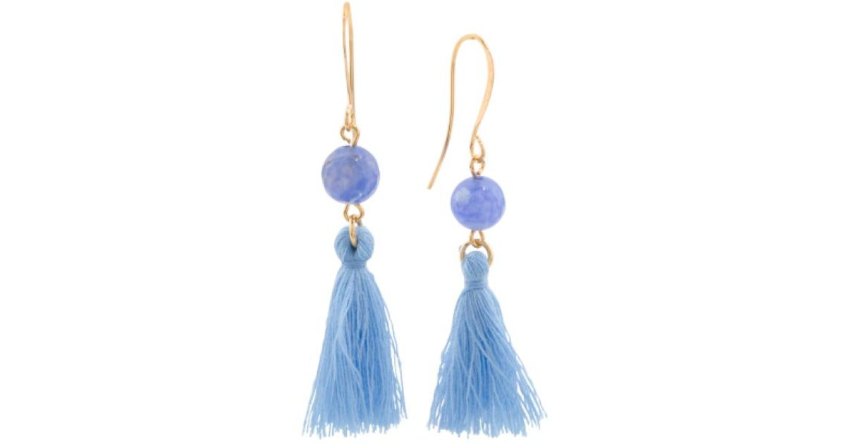 Lyst - Tj Maxx Made In Canada Sky Blue Agate And Cotton Tassel ...