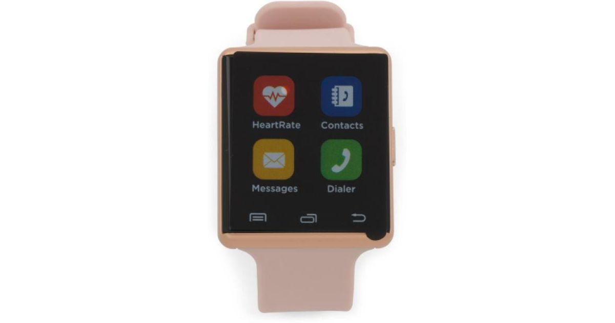 bcc9f9e7bb98 Lyst - Tj Maxx Air 2 Smartwatch With Heartrate Monitor And Silicone Strap