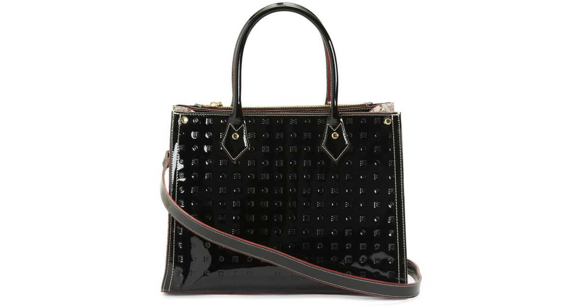 a8ebfa83e Tj Maxx Made In Italy Patent Leather Satchel in Black - Lyst
