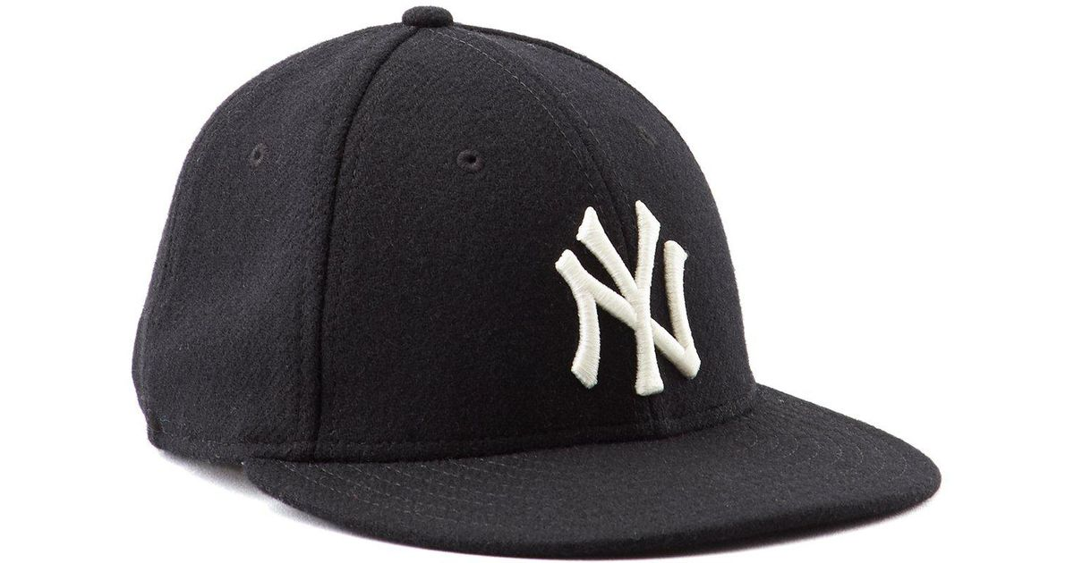 Lyst - NEW ERA HATS Ny Yankees Black Wool Hat in Black for Men 7be82bf95b9