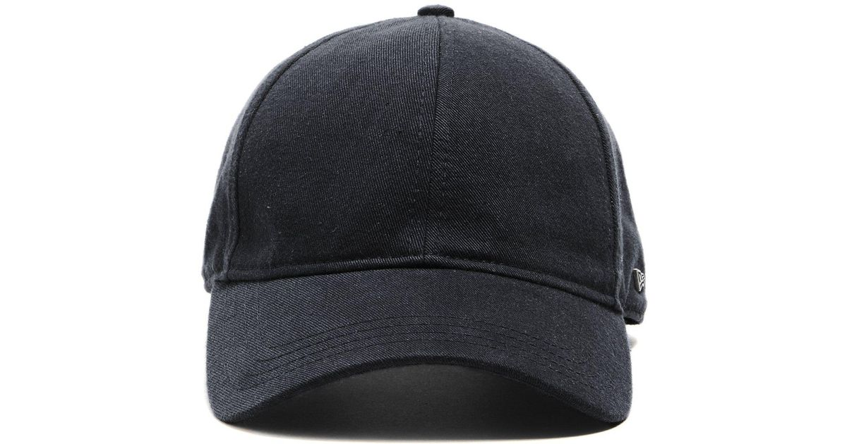 Lyst - NEW ERA HATS Dad Hat In Black Selvedge Chino in Black for Men 87c9302d839b