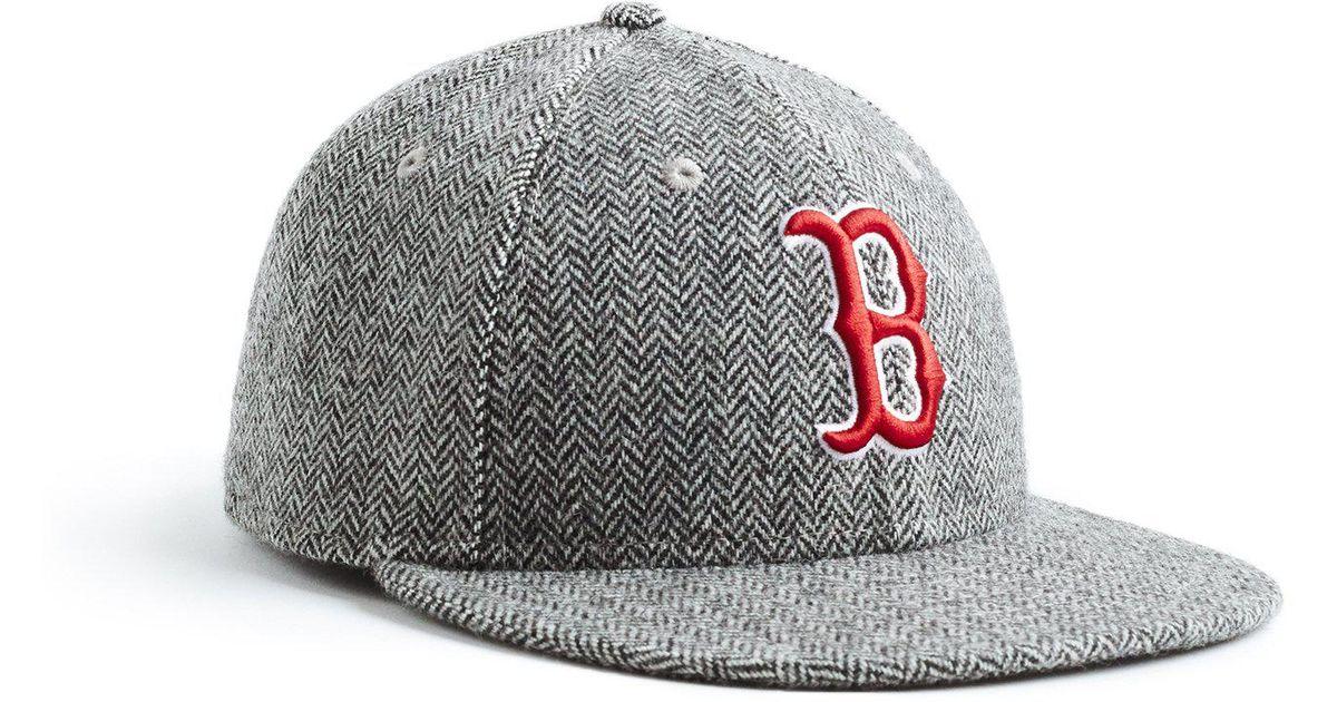 pretty nice 08f53 aa10e NEW ERA HATS Exclusive New Era Boston Red Sox Hat In Abraham Moon  Herringbone Lambswool in Black for Men - Lyst