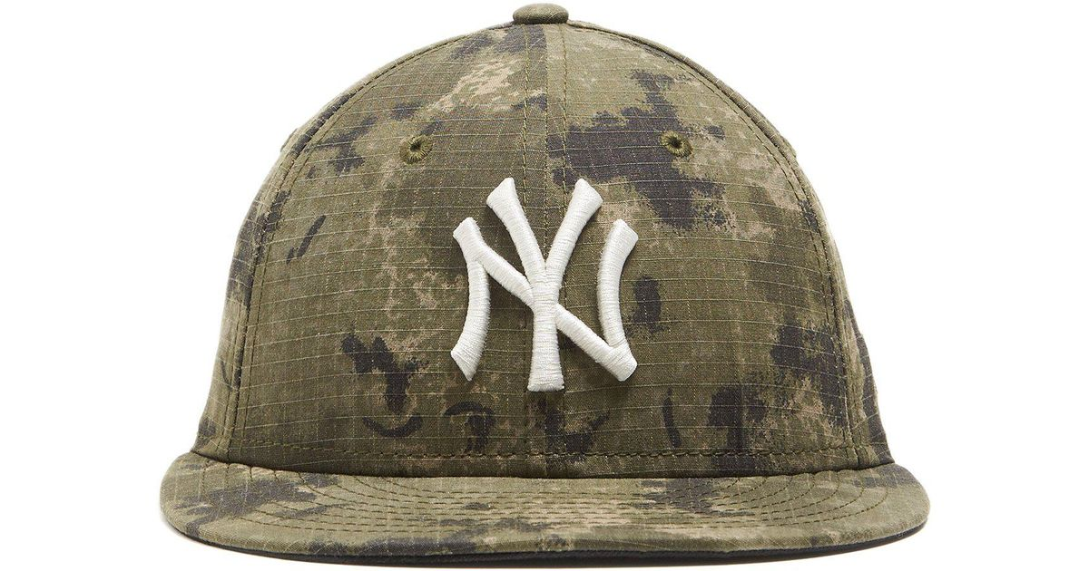 a19184fb74d Lyst - NEW ERA HATS New York Yankees Cap In Camo Ripstop in Green for Men